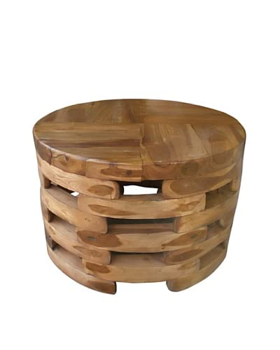 Jeffan Open-Slat Wooden Coffee Table, Natural