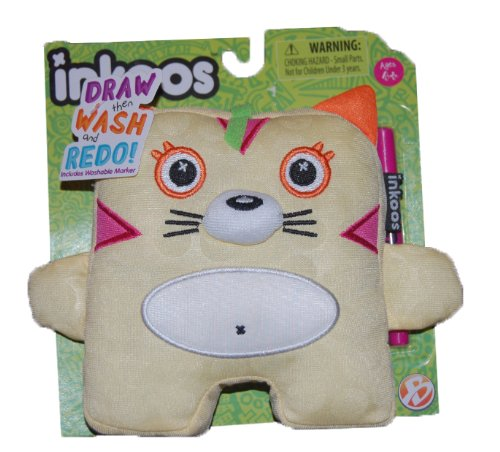 Inkoos Mini Plush Kitty with Marker - Yellow - by Inkoos - 1