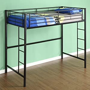Amazon Com Walker Edison Sunset Metal Twin Loft Bunk Bed