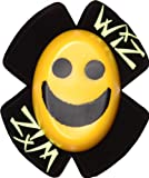 WIZ SMILEY FACE SPARKY MOTORBIKE/MOTORCYCLE KNEE SLIDERS YELLOW/BLACK