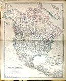 北アメリカジョンソンの骨董品の地図1883 BAHAMAジャマイカキューバアラスカ米国