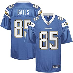 Reebok San Diego Chargers Antonio Gates Replica Alternate Jersey Large by Reebok