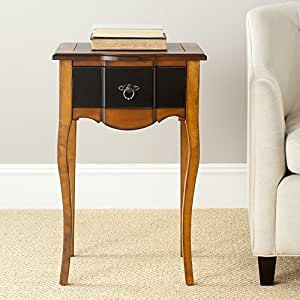 Safavieh American Home Collection Newbury Black and Cherry-Brown End Table