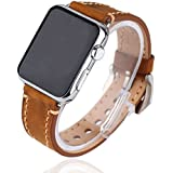 Apple Watch Strap Band - Qshell Apple Watch 42MM - (100% Genuine Leather) Strap Band High Quality Premium Strap...