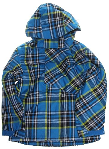 Ripzone Foreman Snowboard Jacket Electric Blue Plaid Youth Sz M