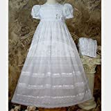 Baby Girls White Bonnet Victorian Christening Dress Outfit 3M