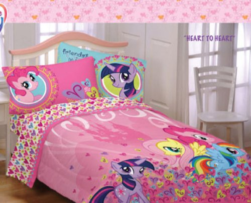 Nice Bad My Little Pony Full Comforter and Sheet Set Piece Bed In A Bag