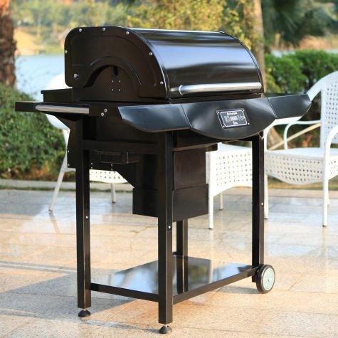 Smoke-N-Hot Black Powder Coated Pellet Pro Grill
