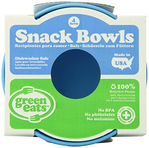 Green Eats 4 Pack Snack Bowl, Blue