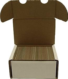 BCW 300 Count- Corrugated Cardboard Storage Box - Baseball, Football, Basketball, Hockey, Nascar, Sportscards, Gaming & Trading Cards Collecting Supplies