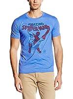 Marvel Camiseta Manga Corta Retro Web Slinger (Azul)