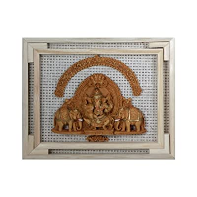 Ganesh with Elephants Recycled Art Board Sculpture