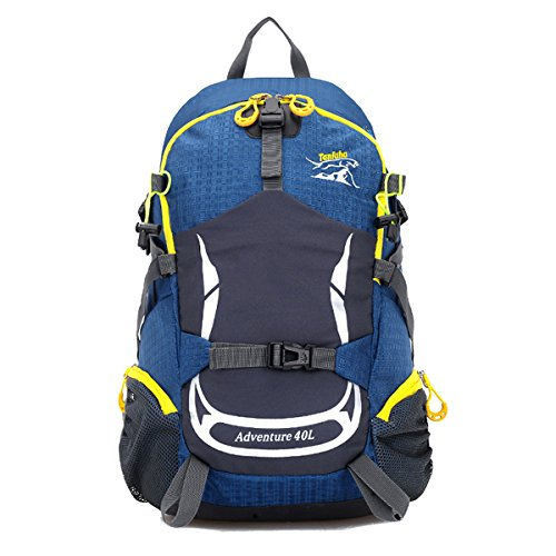 Zerd 40L Unisex Waterproof Outdoor Camping Travel Backpack Outdoor Hiking Daypacks Climbing Cycling Bag Waterproof Mountaineering Blue
