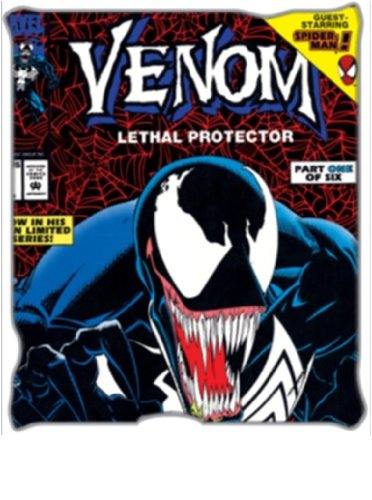 Silver Buffalo Mu6527 Marvel Comics Venom Lethal Protector Plush Throw Blanket, 50 By 60-Inch, Multicolored front-309011