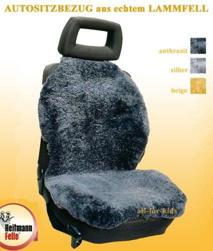 Autositzbezug / Lammfell für Autositz* echtes Fell, Farbe:silber