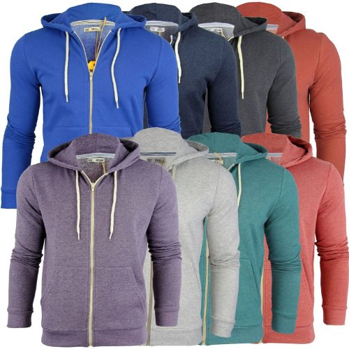Mens Brave Soul 'Adrian' Hoodie/ Hooded Zip Jumper/ Sweatshirt