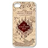Custom Made Hard Case for iPhone 4,4s - Harry Potter Geographical MAP