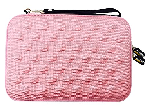 AZ-Cover 7-Inch Tablet Semi-rigid EVA Bubble Foam Case (Pink) With Wrist Strap For PROSCAN 7″ Dual-Core Android 4.4 Internet Tablet (PLT7100G) + One Capacitive Stylus Pen