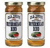 Old South Sweet Pickled Watermelon Rind (10 oz Jars) 2 Pack
