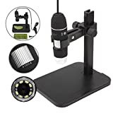 JZHY 1000x Microscope Magnification USB Microscope 8-led Digital Endoscope with Stand£¨with OTG cable for Android Phone)
