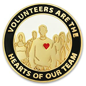 Volunteers Are Hearts of the Team Pin