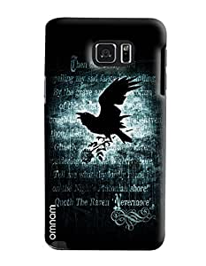 Omnam Eagle Flying With Rose Printed Designer Back Cover Case For Samsung Galaxy Note 5