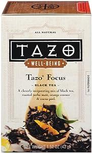 Tazo Well-Being Focus, Black Tea, 16-Count Tea Bags (Pack of 6)