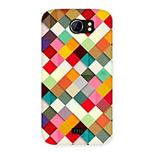 Enticing Color Ribbons Back Case Cover for Micromax Canvas 2 A110