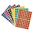 Majuscule-gommette Adhesive Ronde Mj - Blister De 636 [Jouet]
