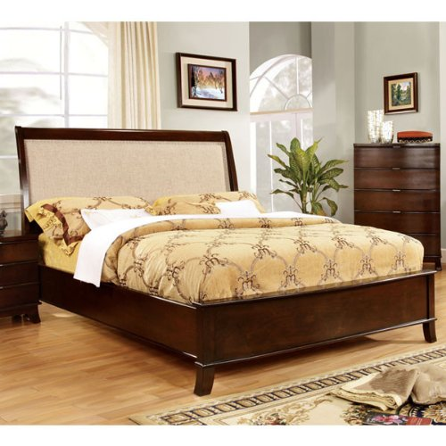 Mercer Contemporary Style Brown Cherry Finish Eas King