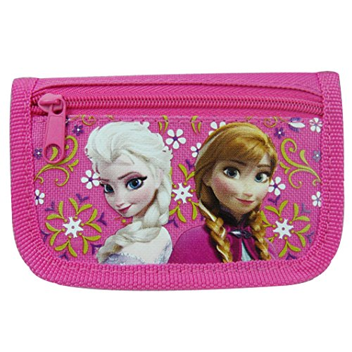Disney Frozen Anna and Elsa Hot Pink Trifold Wallet