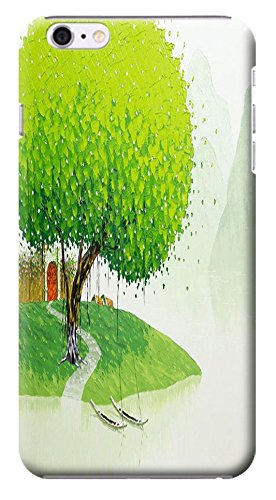 """Huahui Case / Cover Oil Painting Special Design Colorful Trees Cute Cell Phone Cases For Iphone 6 (4.7"""") Black Hard Cases No.1"""