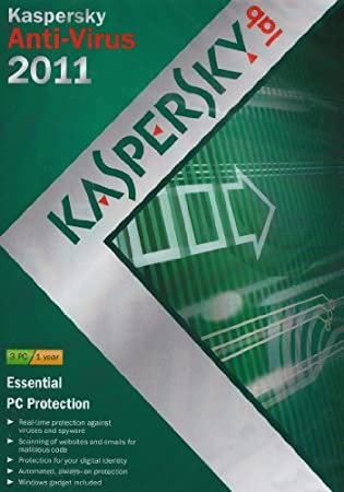 Kaspersky Anti Virus 2011, 3 PC, 1 Year Subscription (PC)