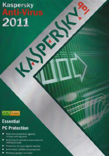 Kaspersky Anti Virus 2011, 3 PC, 1 Year Subscription