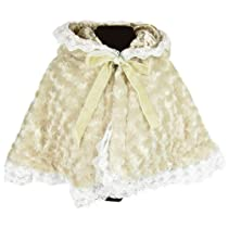 KF Baby Lace Trimmed Soft Hooded Poncho Scarf, 9 - 24 months, with kilofly Card