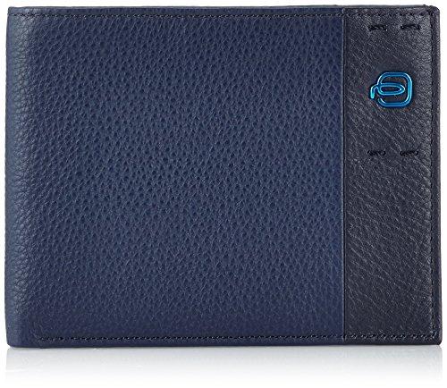 Piquadro Pulse Portafoglio, Pelle, Blu, 13.0 cm