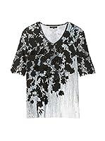 Olsen Camiseta Manga Corta (Blanco / Negro)