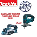 MAKITA BKP180Z 18V 82mm Cordless Planer Plus BJV180Z 18V Li-Ion Jigsaw (Body Only)
