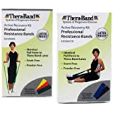 Thera-Band Latex Free Active Recovery Kits, Yellow/Red/Green, Beginner (5 ft bands)