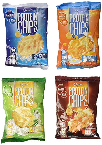 Quest Nutrition Protein Chips, Variety Pack Including BBQ, Sea Salt, Cheddar & Sour Cream,& (Quest Protein Crisps compare prices)
