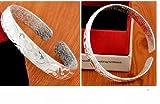 Skyllc® Moda de alta calidad de la Mujer en flor de ley S925 Plata Pulseras