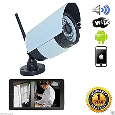 iSmart WiFi HD720P IR Bullet IP Smartphone CCTV Security Surveillance Camera with Night Vision and Motion Detect (C1006DN2)
