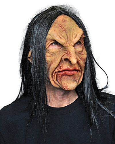 Deviant Warlock Zombie Witch Ugly Horror Latex Adult Halloween Costume Mask
