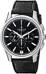 Zenith Men's 032110400.22C El Primero Analog Display Swiss Automatic Black Watch