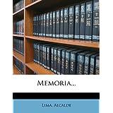 Memoria... (Spanish Edition)