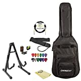 Electric Guitar add-on Pack together with Gig Bag, Stand, Strap, Cable, Lesson, Pick Holder, Tuner, Cloth and Picks