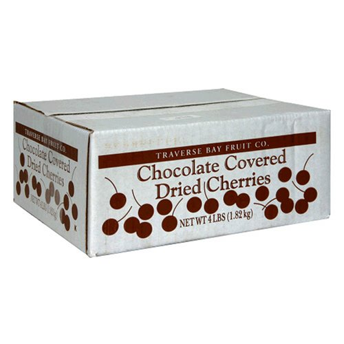Traverse Bay Chocolate Covered Dried Cherries, 4-Pound Box