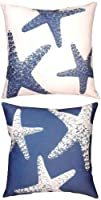 Starfish - Four Seasons Indoor / Outdoor Throw Pillow 18-in x 18-in from Manual Woodworkers and Weavers