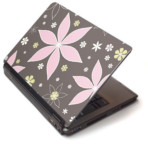 "Pink petals - Toshiba Lapjacks skin to fit 17"" Laptops"