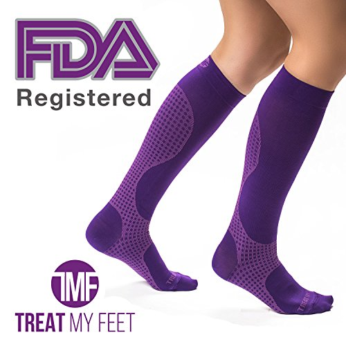 Compression Socks for Men & Women - Knee-high compression stockings relieve calf, leg & foot pain - Graduated to boost circulation & reduce edema swelling - FDA Registered - Nurse & Runner Recommended (Mens Thermal Leggins compare prices)